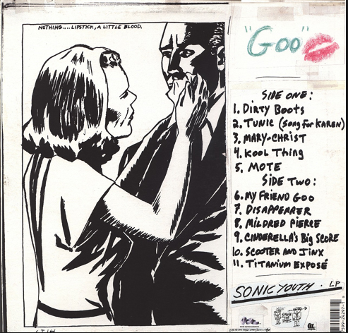 Sonic Youth: Goo (Back Cover)