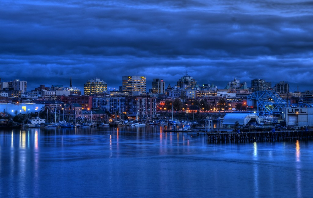 Victoria, British Columbia Skyline at Twilight