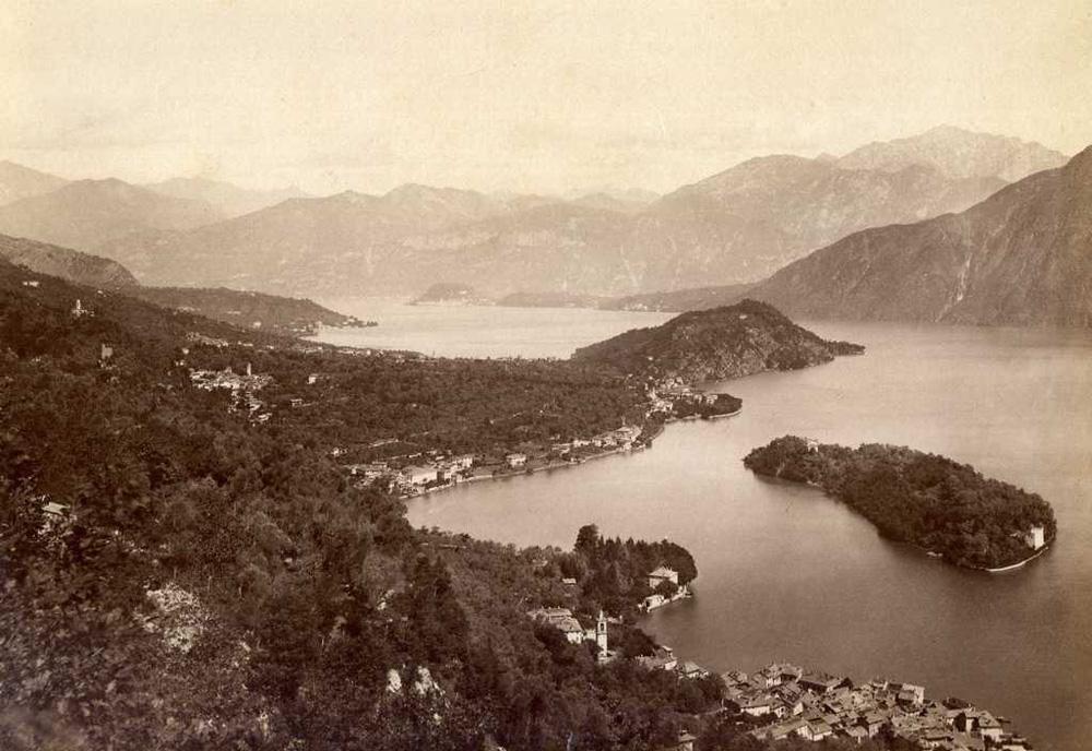 Isola Comacina (Photo: Carlo Brogi, 1850-1925)