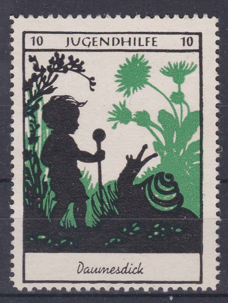 Charity seal made by Lotte Reiniger