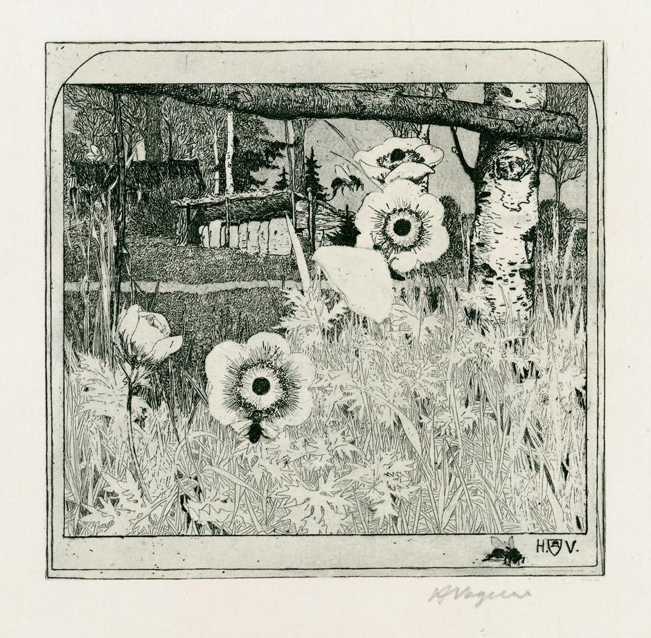 Heinrich Vogeler: Frühlingsblumen (1899)